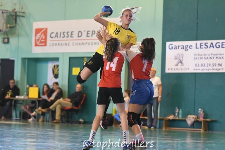 2018-10-20 Region U13F Villers Hb Club VS Amicale Laïque de Neuves-Maisons Handball 23-01 (1)