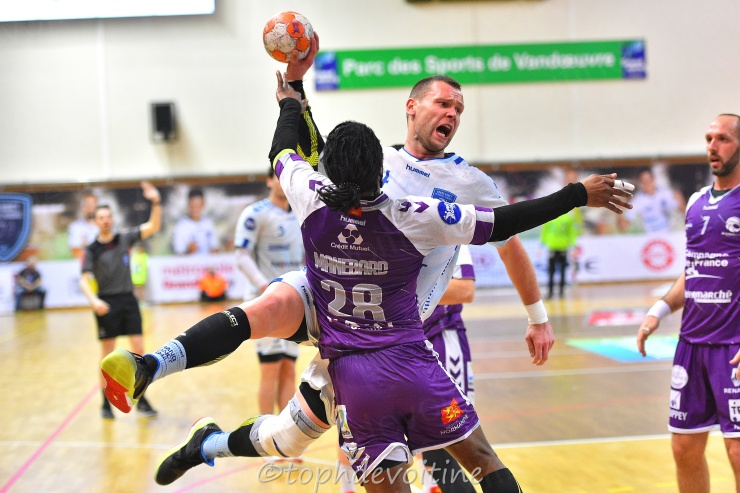 2019-03-22 ProLigue J21 Grand Nancy Métropole Handball VS JS Cherbourg Manche HB 30-31 (1)